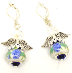 Cloisonne Angel Earrings