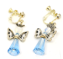 Blue Cone Angel Earrings