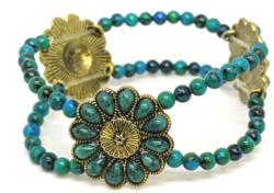 Daisy Blue Bracelet