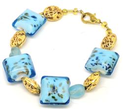 Gold & Blue Bracelet