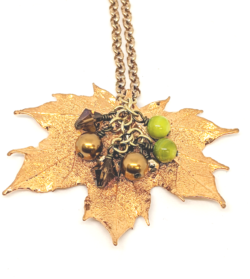 24KT Gold Maple Leaf Pendant