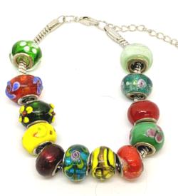 Mixed Glass Beads Bracelet
