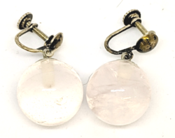 Pink Quartz Ball Earrings