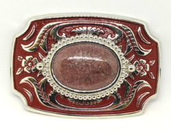 Rhodonite Buckle