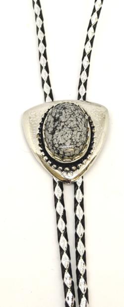 Snowflake Obsidian Bolo
