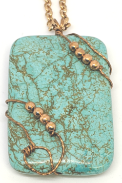 Roped Turquoise Pendant