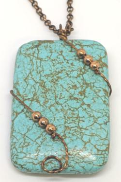 Turquoise & Copper Pendant