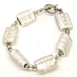 White Ice Pillow Bracelet