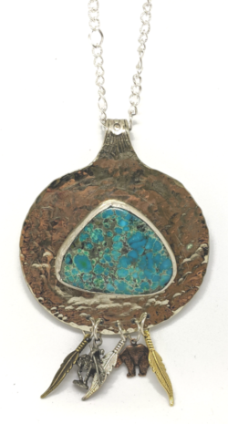 Turquoise Dream Catcher Necklace